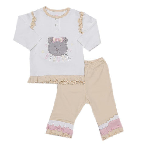 Eminent Newborn Girls 2 Piece Suit - Fawn - test-store-for-chase-value