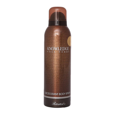Rasasi Knowledge Pour Homme Body Spray For Men - 200ml - test-store-for-chase-value