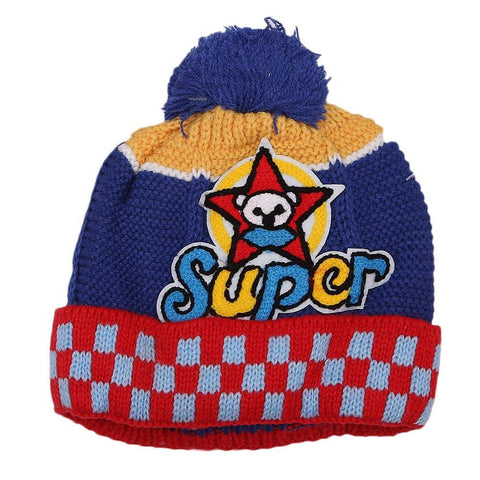 Boys Woolen Cap - Blue - test-store-for-chase-value