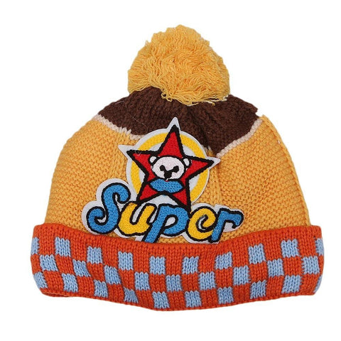 Boys Woolen Cap - Yellow - test-store-for-chase-value