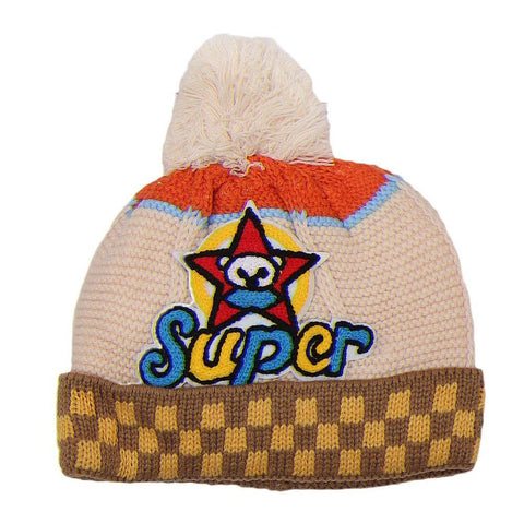Boys Woolen Cap - Fawn - test-store-for-chase-value