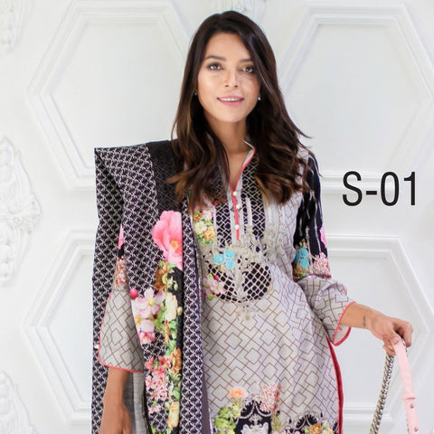 Salina Digital Printed Khaddar 3 Piece Unstitched Suit - 01 - test-store-for-chase-value