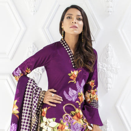 Salina Digital Printed Khaddar 3 Piece Unstitched Suit - 05 - test-store-for-chase-value