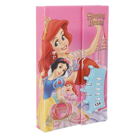 Sleeping Beauty Secret Diary Lockable Notebook for Kids - Pink - test-store-for-chase-value