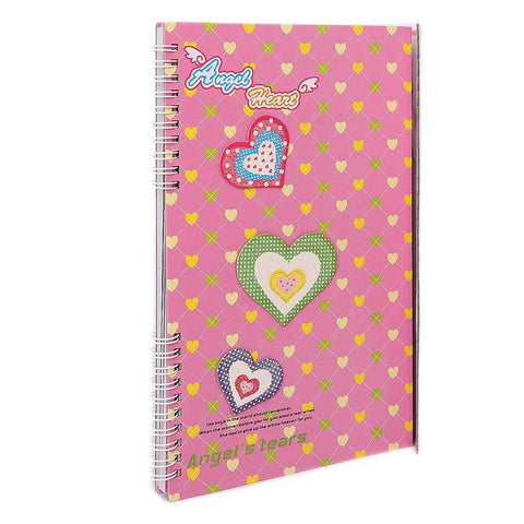 Angel Heart Secret Diary Notebook for Girls - Pink - test-store-for-chase-value