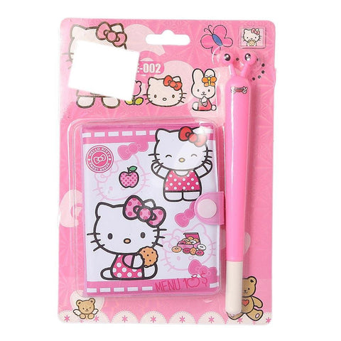 Hello Kitty Mini Notebook & Pen for Kids - Pink - test-store-for-chase-value