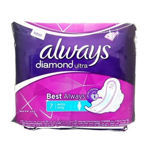 Always Diamond Ultra Thin Extra Long - 7 Pcs - test-store-for-chase-value