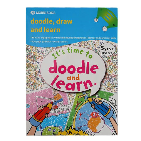 Morrisons Doodle Draw & Learn Book for Kids - test-store-for-chase-value