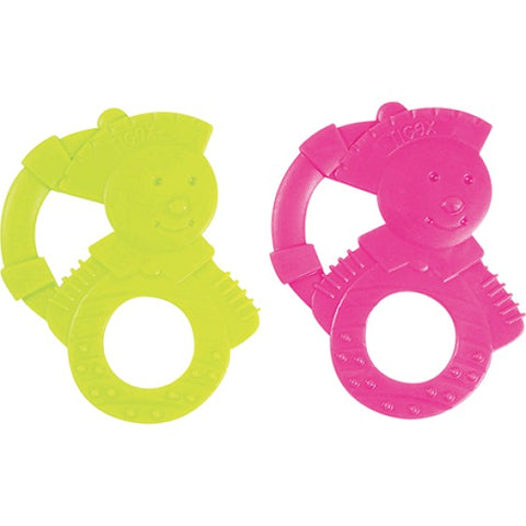 Tigex Baby Mousse teething ring for first teeth - Green & Pink - test-store-for-chase-value