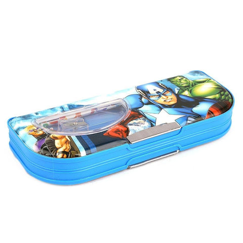 Avengers Double Sided Pencil Box - Blue - test-store-for-chase-value
