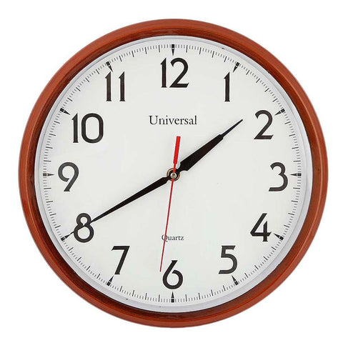 Analog Wall Clock 1103 - White & Brown - test-store-for-chase-value
