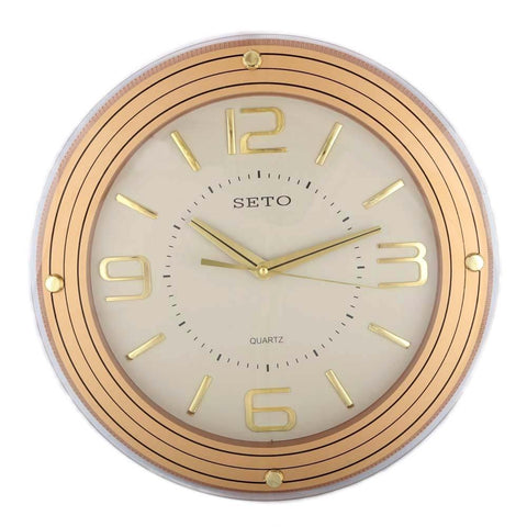 Analog Wall Clock 1008 - Grey & Gold - test-store-for-chase-value
