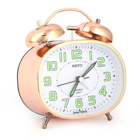 Twin Bell Alarm Table Clock - Copper - test-store-for-chase-value