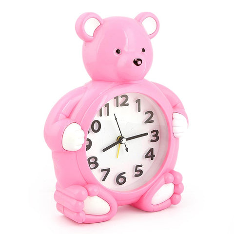 Table Bear Alarm Clock - Pink - test-store-for-chase-value