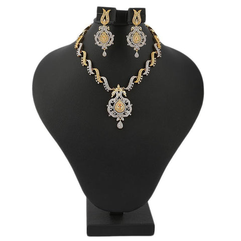 American Diamond Women's Kanthi Set - Gold & Silver - test-store-for-chase-value