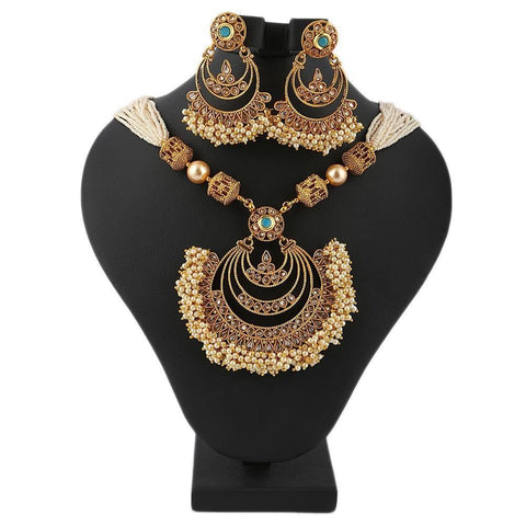 Bridal Mala Set - Golden - test-store-for-chase-value