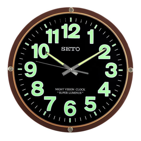 Analog Wall Clock 1005 - Brown & Black - test-store-for-chase-value