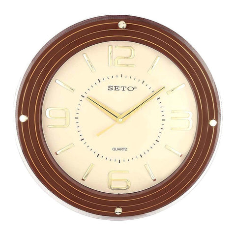 Analog Wall Clock 1008 - Brown & Fawn - test-store-for-chase-value