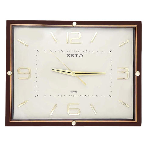 Analog Wall Clock 1007 - Brown & Fawn - test-store-for-chase-value