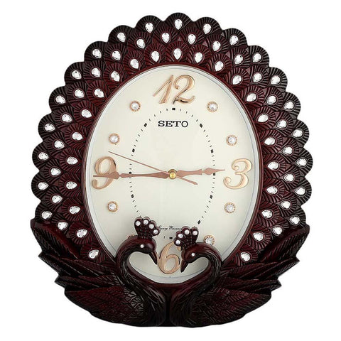 Analog Fancy Wall Clock 211 - Maroon & White - test-store-for-chase-value