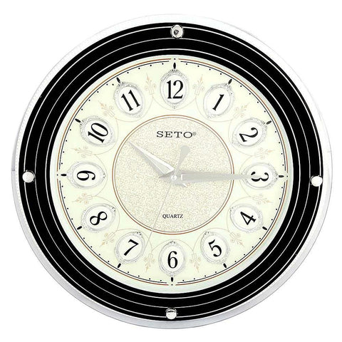Analog Wall Clock 1008D - Black & Fawn - test-store-for-chase-value