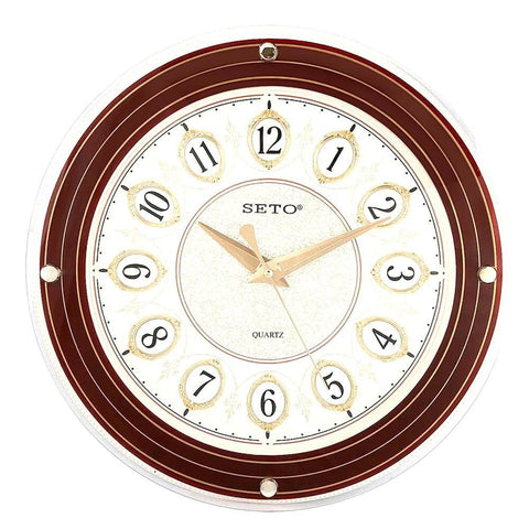 Analog Wall Clock 1008D - Brown & Fawn - test-store-for-chase-value