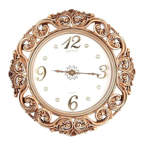 Analog Fancy Wall Clock 1023 - Copper & White - test-store-for-chase-value