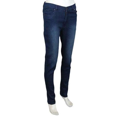 Women's Slim Fit Denim Pant - Dark Blue - test-store-for-chase-value