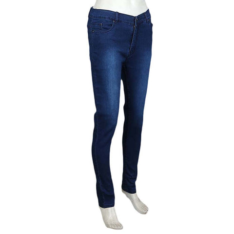 Women's Slim Fit Denim Pant - Medium Blue - test-store-for-chase-value