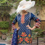 Ayesha Alishba Cambric Embroidered 3 Piece Un-Stitched Cotton Suit - 509-A