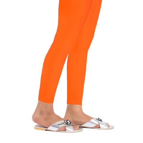 "Women's Plain Tights 39"" - Orange - test-store-for-chase-value"