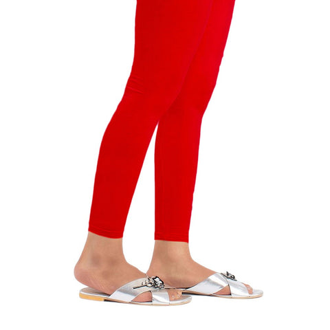 "Women's Plain Tights 48"" - Red - test-store-for-chase-value"