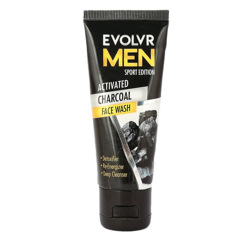 Evolvr Men Activated Charcoal Face Wash - 60ml - test-store-for-chase-value