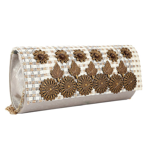 Women's Fancy Clutch 6721 - Silver - test-store-for-chase-value