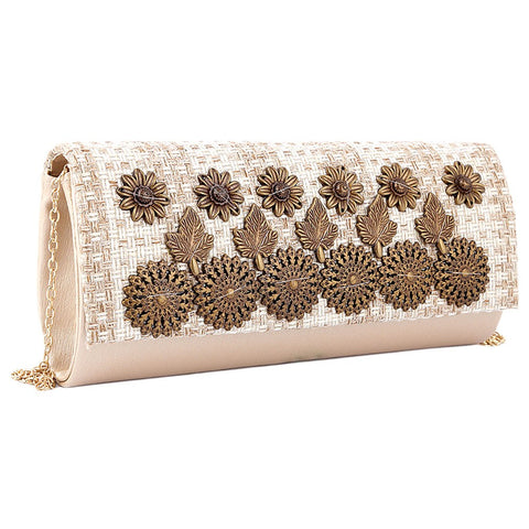 Women's Fancy Clutch 6721 - Golden - test-store-for-chase-value