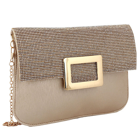 Women's Fancy Clutch 6560 - Golden - test-store-for-chase-value