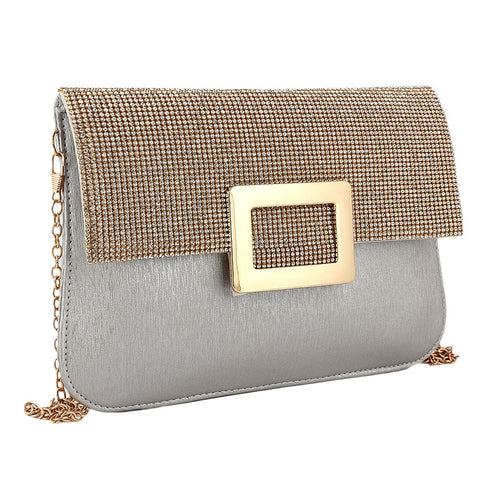 Women's Fancy Clutch 6560 - Silver - test-store-for-chase-value