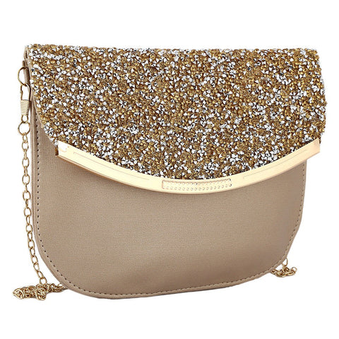 Women's Fancy Clutch 6717 - Golden - test-store-for-chase-value