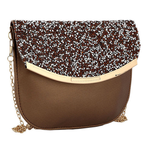 Women's Fancy Clutch 6717 - Brown - test-store-for-chase-value