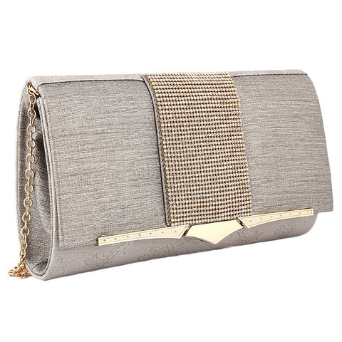 Women's Fancy Clutch 6700 - Silver - test-store-for-chase-value