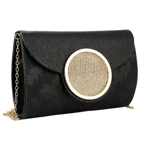 Women's Fancy Clutch 6694 - Black - test-store-for-chase-value