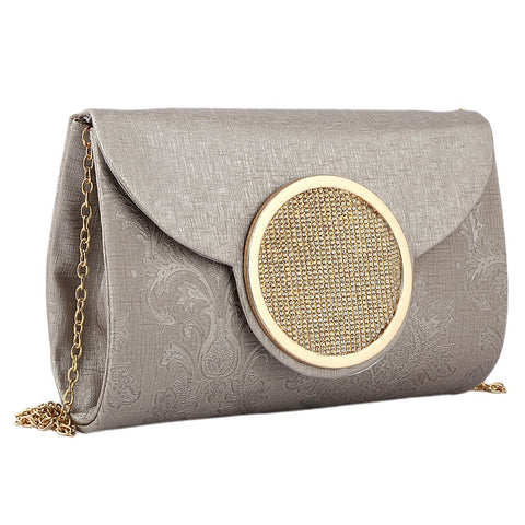 Women's Fancy Clutch 6694 - Grey - test-store-for-chase-value