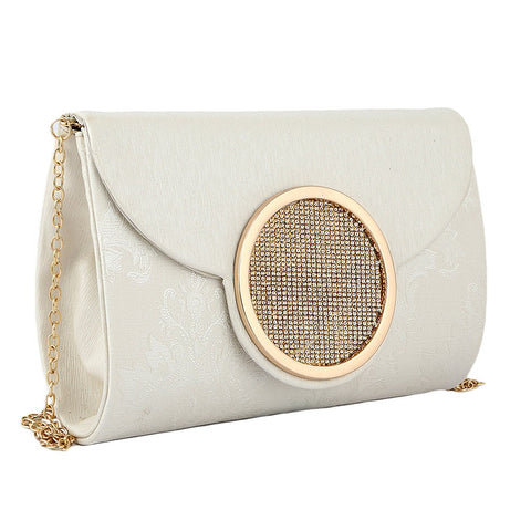 Women's Fancy Clutch 6694 - Off White - test-store-for-chase-value