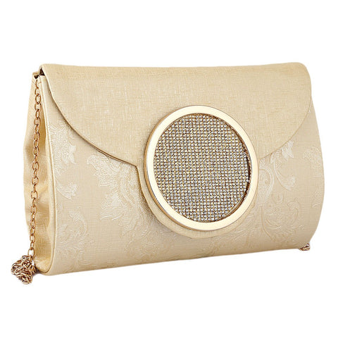 Women's Fancy Clutch 6694 - Golden - test-store-for-chase-value