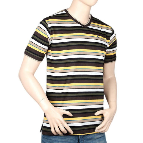 Men's V-Neck Half Sleeve T-Shirt - Multi - test-store-for-chase-value
