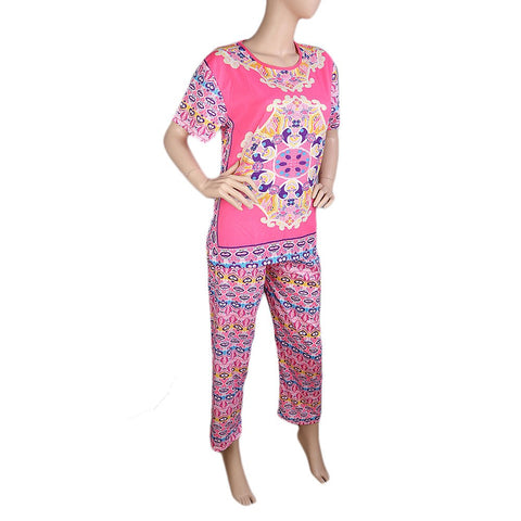 Women's 2 Piece Night Suit - Pink - test-store-for-chase-value