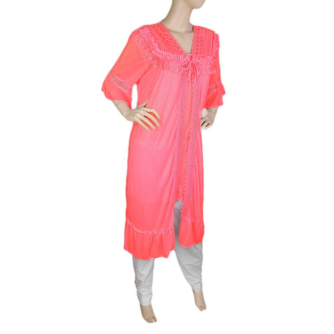 Women's Nighty 2 Pcs Set - Pink -  Pink - test-store-for-chase-value