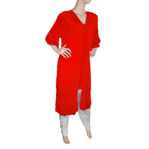 Women's Nighty 2 Pcs Set - Red -  Red - test-store-for-chase-value