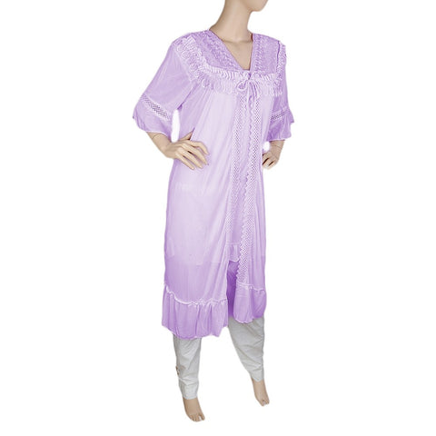 Women's Nighty 2 Pcs Set - Purple -  Purple - test-store-for-chase-value