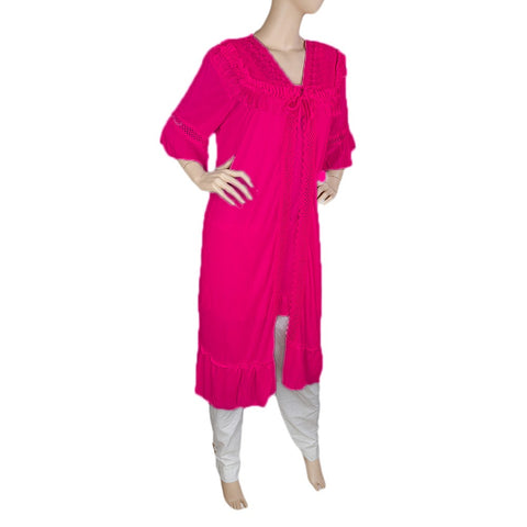 Women's Nighty 2 Pcs Set - Dark Pink -  Dark Pink - test-store-for-chase-value